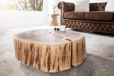 Luxusný konferenčný stolík Island II Cirlce Agátové drevo masív