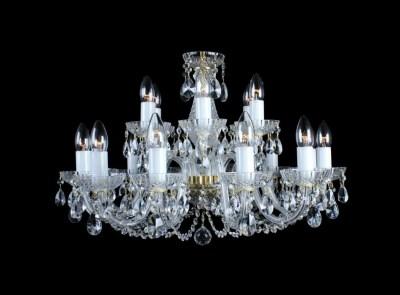 Krištálový luster Classic R18 Bohemia sklenený