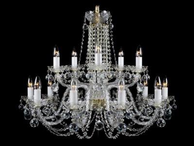 Krištálový luster Premium R15-4 Bohemia sklenený