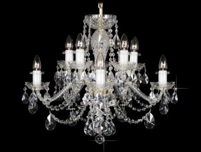 Krištálový luster Grande R10 Bohemia sklenený
