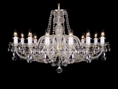 Krištálový luster Grande R12 Bohemia sklenený