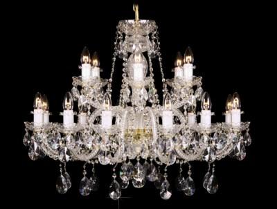 Krištálový luster Grande R18 Bohemia sklenený