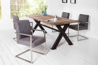 Luxusná stolička Boss Vintage sivá