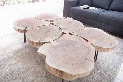 Luxusný konferenčný stolík Island II 115cm Agátové drevo masív
