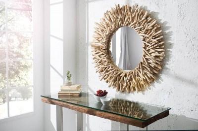 Masívne zrkadlo Coast 80 cm z teakového dreva