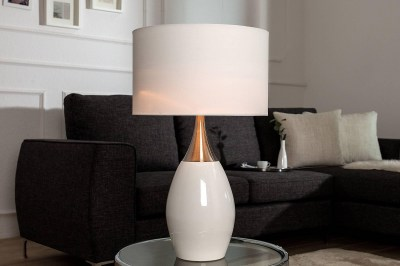 Stolná lampa Aaria 60 cm biela