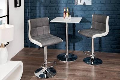 Dizajnová barová stolička Modern šedo biela