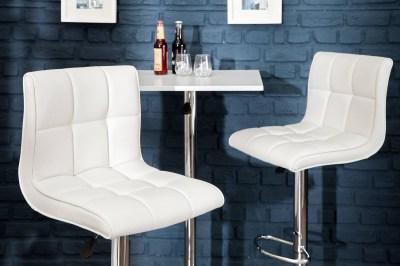 Dizajnová barová stolička Modern biela