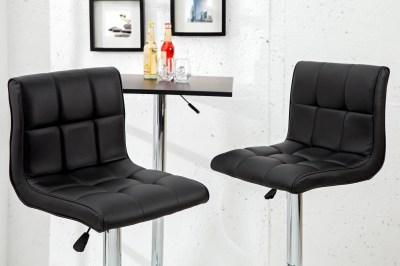 Dizajnová barová stolička Modern čierna
