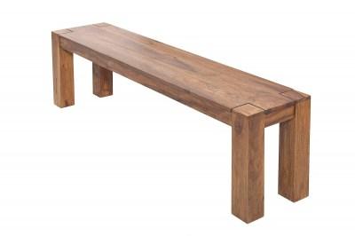 Masívna drevená lavica Timber 140cm