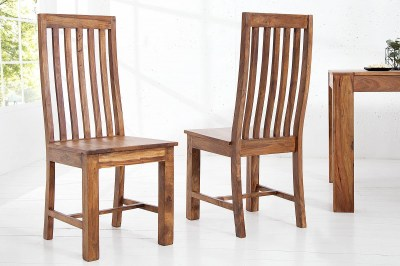 Dizajnová jedálenská stolička z masívu Timber