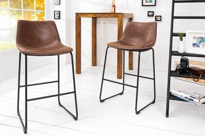 Dizajnová barová stolička Alba hnedá