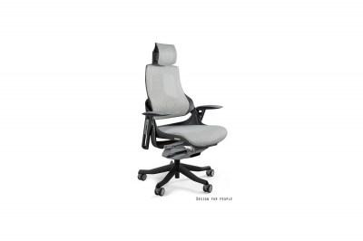 Kancelárska stolička Wanda čierny podklad sieťová modrá
