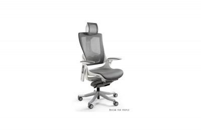 Kancelárska stolička Wanda II - sieťová biely podklad olivová