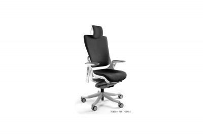 Kancelárska stolička Wanda II - tkanina biely podklad čierna