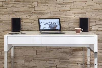 Dizajnový písací stôl Brett biely