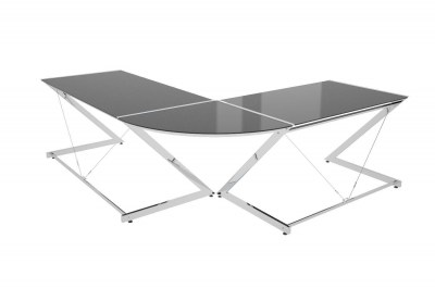 Dizajnový stôl Brik chrómovaný čierna