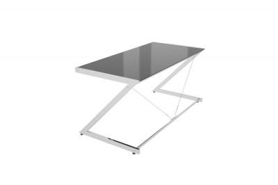 Dizajnový stôl Prest chrómovaný čierna