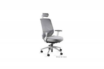 Kancelárska stolička Harry tkanina / biela