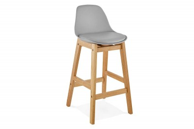 Moderná barová stolička Evan sivá