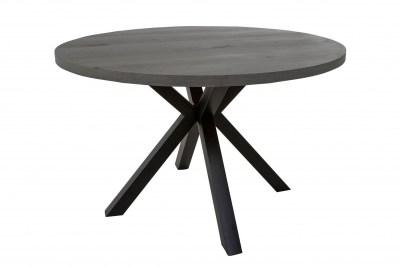 Dizajnový jedálenský stôl Madie tmavo sivý okrúhly 120cm