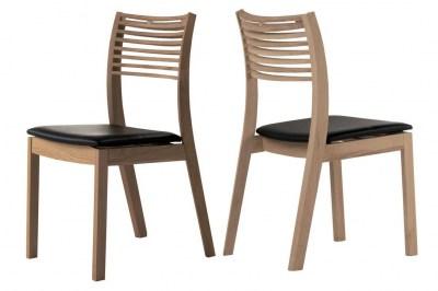 Dizajnová jedálenská stolička Zezi hnedá