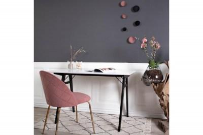 Dizajnová stolička Ernesto ružová - mosadz