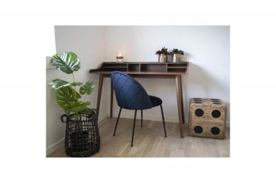 Dizajnová stolička Ernesto, modrá / čierna