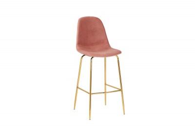Barová stolička Sweden staroružová - zlatá