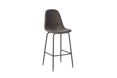Barová stolička Sweden striebornosivý zamat