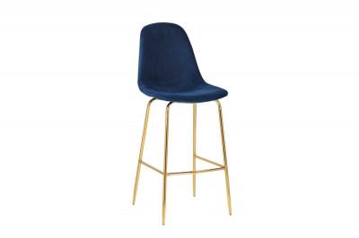Barová stolička Sweden tmavomodrá - zlatá