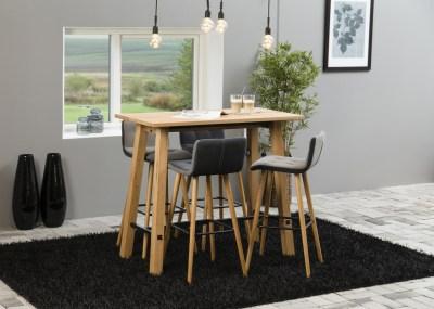 Barový stôl Nayana 120 cm brúseny divoký dub