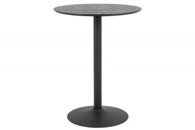 Barový stôl Neesha Ø 80 cm čierny