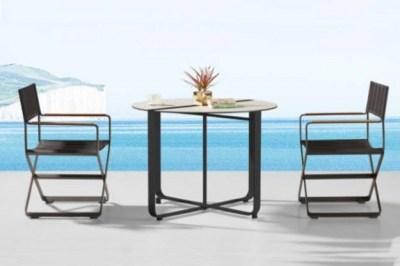 Záhradná zostava HIGOLD Clint čierna - 2 x stolička, 1 x stôl