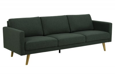 Dizajnová 3-miestna sedačka Danson 221 cm zelená