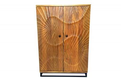 Dizajnová barová skrinka Shayla 141 cm hnedá / mango