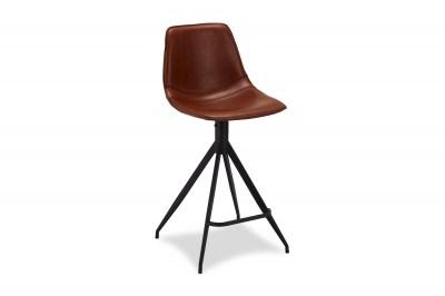 Dizajnová barová stolička Aeron, svetlohnedá