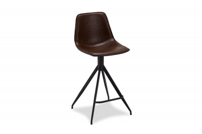 Dizajnová barová stolička Aeron, tmavohnedá