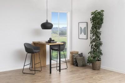 Dizajnová barová stolička Aladdin, tmavosivá