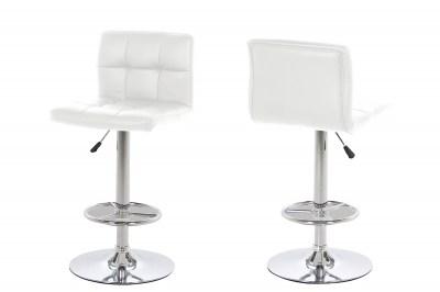 Dizajnová barová stolička Alban, biela