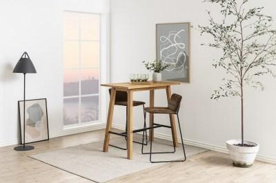 Dizajnová barová stolička Alberich, hnedá