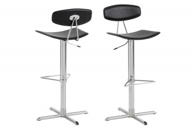 Dizajnová barová stolička Alessio, čierna