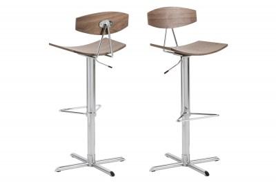 Dizajnová barová stolička Alessio, orech