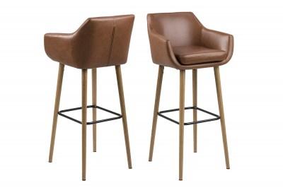 Dizajnová barová stolička Almond, koňaková