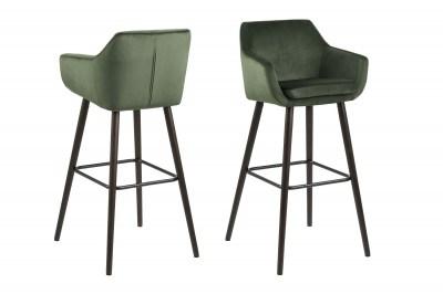 Dizajnová barová stolička Almond, lesnícka zelená