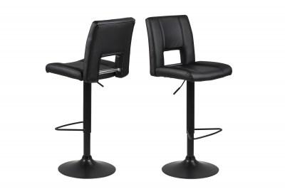 Dizajnová barová stolička Almonzo, čierna