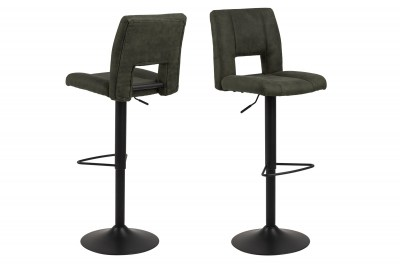 Dizajnová barová stolička Almonzo, olivovo zelená