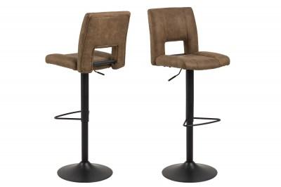 Dizajnová barová stolička Almonzo, svetlohnedá / čierna