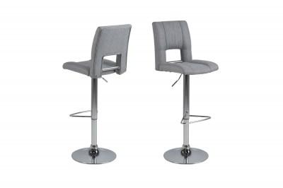 Dizajnová barová stolička Almonzo, svetlosivá / chrómová