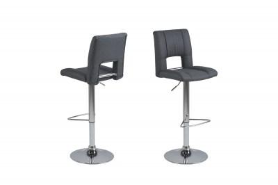 Dizajnová barová stolička Almonzo, tmavosivá / chrómová